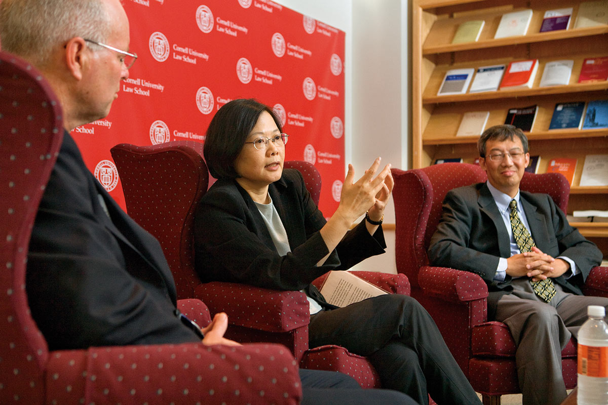 Tsai's 2008 visit to Cornell to deliver the annual lecture of the Clarke Program in East Asian Law and Culture